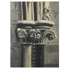 Penelope Fleming - painting of a Capital - 1952