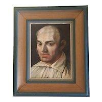 Portrait of the French painter Jean Baptiste Frederic Demarais