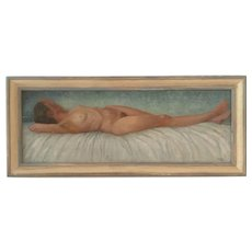 """Well executed  """"reclining nude"""" by L.Assher"""
