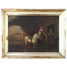 19th'C Dutch farm house scene