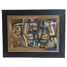Abstract composition by Polish artist Wlodzislaw Sier
