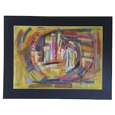 Abstract composition by Polish artist Wlodzislaw Sir