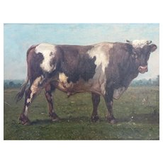19th'Century French painting of a Cow
