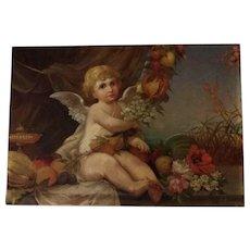 Cupid in a Landscape by Dutch artist Lucia van Groningen