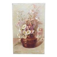 Flower Painting by British artist R.B. Hill