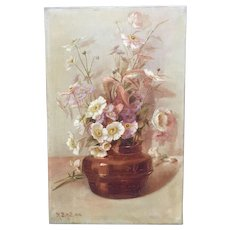 Flower Painting by British artist R.B. Hill