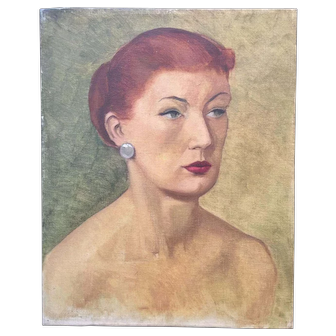 Well executed of a Lady with Red hair