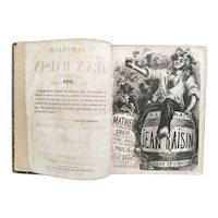 """""""Almanach de Jean Raisin"""" 1860, a Rare book by Gustave Mathieu"""