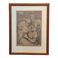"""Thomas Rowlandson a Fine Engraving of """"The Cobblers Cure Scolding Wife"""""""