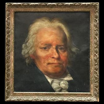 French 19th'Century Portrait Noble Man
