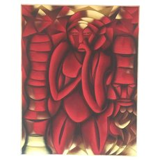 Abstract painting by Contemporary AFRICAN artist