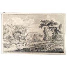 "Engraving ""Figures in a Italian Landscape, circa 1770"""