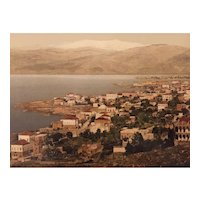 """Photochrom print """"Beyrouth and the Lebanon"""""""