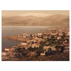 "Photochrom print ""Beyrouth and the Lebanon"""