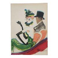 Elegant couple in Paris by Jean-Gabrielle Domerque