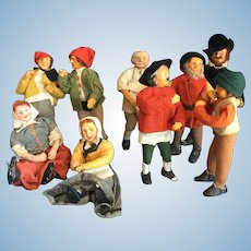 Group Vintage Dolls of Papier Mache