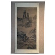 Qing Dynasty antique Ink and Wash painting