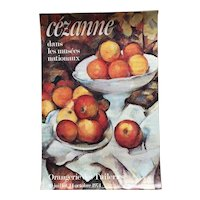 Paul Cezanne poster Orangerie des Tuileries 1974 Paris