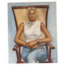 "Gabriel Benitez - Spain  ""seated woman"""