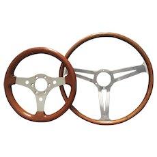 Pair of Vintage Steering Wheels
