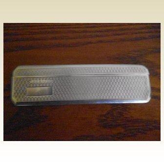 Art Deco Chester Silver Hallmarked Beard Comb Holder