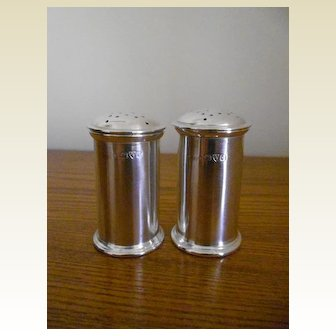 Pair of Art Deco Chester Silver Hallmarked Pepperettes