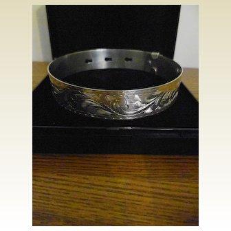 Vintage Chester Silver Hallmarked Ladies Belt Bangle