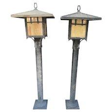 Asian pagoda Outdoor Lamp posts