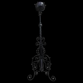 Bradley and Hubbard ornate piano lamp