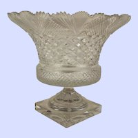 An Antique Irish or Anglo-Irish Cut Glass Pedestal Bowl
