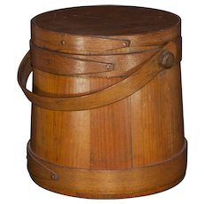 American Firkin dry measure small wooden cask
