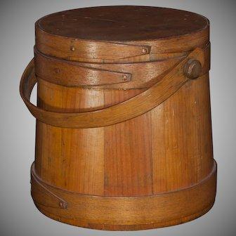 American Firkin dry measure small wooden cask