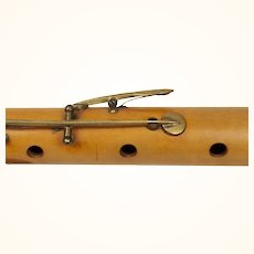 Antique French Pearwood Flute, Gautrot Aine , Paris 19th Century