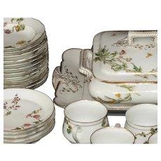 48-piece Antique Haviland Limoges Japonesque 48-piece partial dessert set