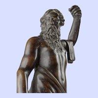"Continental Bronze Sculpture of Poseidon, early 17th century, 12.75""x4"""