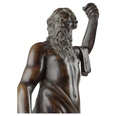 "Continental Bronze Sculpture of Poseidon, early 17th century, 12.75""x4"""