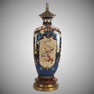 Japanese Meiji period cloissone dragon vase mounted as a lamp