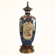 Japanese Meiji period cloissone dragon vase mounted as a lamp