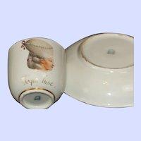 Royal Vienna Cup & Saucer, 18th century Depicting Madame de Pompadour