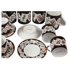 Tiffany Coffee Set with Playing Card Theme