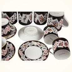 Tiffany Coffee Set with Playing Card Theme