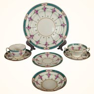 "Large Partial Set of Older Mintons ""Persian Rose"" Dinner Service"