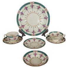 "Large Partial Set of Older Mintons ""Persian Rose"" Dinner Service"
