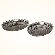 A Pair of Regency 1825 Period Anglo-Irish Cut Crystal Fruit Bowls
