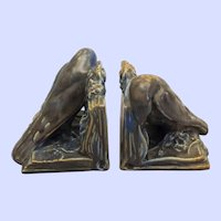 """Pair Rookwood rook bookends 6"""" x 6""""x 6"""""""