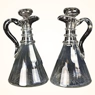 Pair of English Magnum Ship Decanters