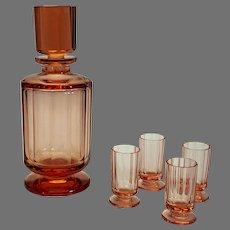 Art Deco Decanter with 4 cordials