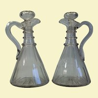 "Pair of English Magnum Ship Decanters, 11 ½"" tall"