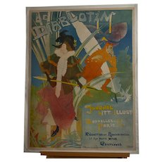 "French Belle Epoque Lithographic Poster ""Le Diablotin"" by George de Feure 1892"