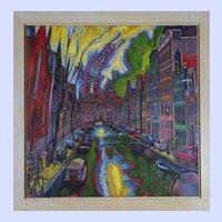 """Oudekirk"" by Richard Lane Chandler - oil on canvas, 44"""
